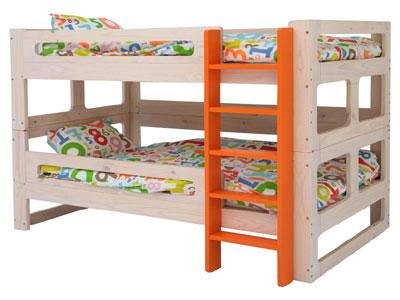 シングルベッド、2段ベッド、どちらにも対応可能な子供用ベッド